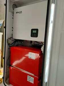 On Grid Hybrid Solar System 5 KW SOLAX inverter 4x 12V 190AH battaries Pre Wired