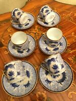 Vintage 6 cups 6 Saucers Arabia Finland Porcelain Coffee Set