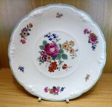 Servier Schale Kuchen Gebäck Teller Thomas Ivory Handbemalung Blumen D30cm ~1940
