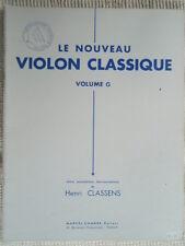 """PARTITION """" LE NOUVEAU VIOLON CLASSIQUE VOLUME G """" Editions COMBRE"""