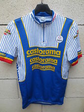 VINTAGE Maillot cycliste CASTORAMA Nalini shirt jersey FIGNON RIIS Tour 1990 3 M