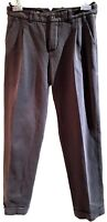 LORO PIANA ANKLE GRAY DRESS/CASUAL PANTS, 42, $2850