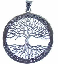 Anhänger Baum des Lebens, Symbol der Verbindung Himmel und Erde, Sterlingsilber