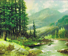Mountain Stream by Robert Wood -  Canvas Style Lithograph