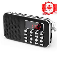 Portable Radio Pocket AM FM Battery Operated Radio with Emergency Flashlight ...