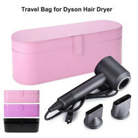 Portable Travel Storage Leather Case, Gift for Dyson Supersonic HD01 Hairdryer