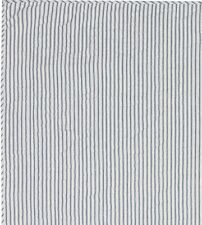 Blue Cal King Ticking Stripe Quilt Farmhouse Bedding Sawyer Mill Hand Quilted