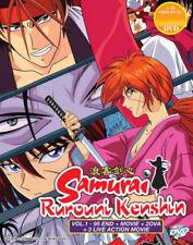 Samurai Rurouni Kenshin (Vol. 1-95 end + Movie) with English Dubbed
