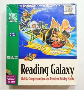 Broderbund Reading Galaxy Software Sealed Big Box Windows and Macintosh CD-ROM