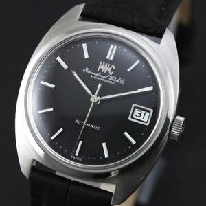 Vintage IWC Schauffhausen Automatic Date Black Dial CAL 8541B Men`s  Swiss Watch