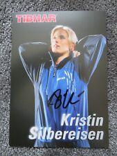 Kristin Silbereisen Tischtennis Autogrammkarte Sport