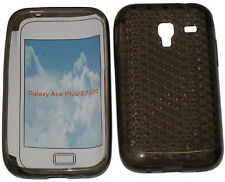 Custodia in gel Pattern protettore per Samsung Galaxy Ace GT S7500 Nero Plus Nuovo