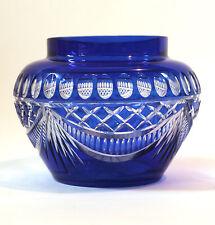 Vase Val St Lambert bleu