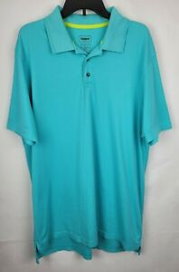 The Foundry Co Mens Size XLT Blue Knit Collared Button Up Pullover Polo Shirt