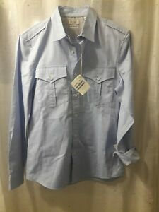 SALE  BRUNELLO CUCINELLI MENS BLUE SHIRT WITH  POCKETS   SZ:M MADE IN ITALY