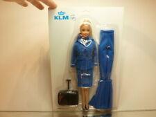 PPC FLIGHT ATTENDANT KLM SKY TEAM  - KLM BLUE H30.0cm - UNUSED IN CARD BLISTER