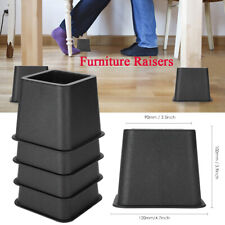 4pc/set Furniture Risers Square Bed Riser Stable & Durable Elephant Feet Lift
