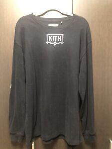 Used Kith X Carbone Long Sleeve Tee Black Xlarge