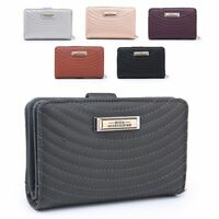 Ladies Quilted Faux Leather Purse Designer Girls Wallet Handbag Boxed M5009-358