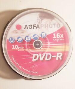 DVD Rolinge AGFAPHOTO 10 Stück DVD-R 16x 4.7GB 120min Neu Art No.450 202 PC