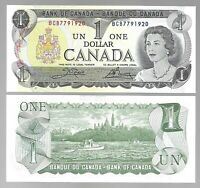 "Canada One 1 Dollar $1 (1973) UNC Banknote "" Serial # Ending xxxx1920 to 1969 """