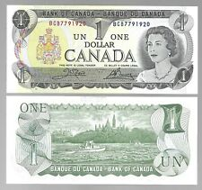 """Canada One 1 Dollar $1 (1973) UNC Banknote """" Serial # Ending xxxx1920 to 1969 """""""