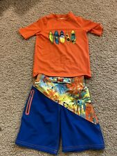 Boys Swim Trunks & Swim Shirt. Sunset/ Surfboards Boys Sz 6/7