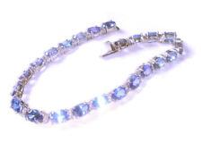 19.30ct Tanzanite & Diamond Bracelet in 14K White Gold