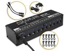 Alimantation Pedale Effets Guitare Electrique 7x9V 100mA Lumignon LED Isolation