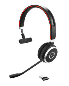 Jabra Evolve 65 Mono Blutooth Headset with Microphone Carry Pouch