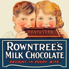 SQUARE METAL VINTAGE RETRO STYLE SHABBY CHIC TIN SIGN ROWNTREES WALL PLAQUE