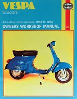 1959-1978 Vespa 90 125 150 180 200 Rotary Valve Scooter HAYNES REPAIR MANUAL 126
