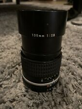 Nikon Series E 135 mm 1:2.8 Prime Lens With Tiffen Filter