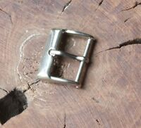 Curved front vintage watch buckle Stainless Steel 16mm inner opening 1950s NOS