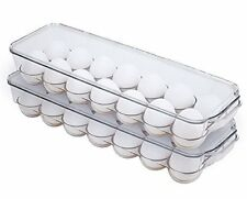Egg Holder with Lid for Refrigerator   Stackable Food Container or Storage   Fit