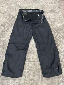 Oakley Mens Waterproof Cargo Ski Snowboard Pants Size Medium Black Fleece Lined