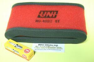 HONDA 77-84 FL 250 Odyssey  Air filter & Spark Plug For Stock Air Box