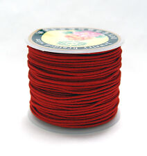 Red 1mm dia. Elastic Cord string 21M/68ft Spool for crafts beading  sewing