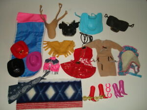 Used Clean Barbie Cowgirl Clothes & Accessories