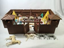 Vintage 1956 Marx Rin Tin Tin Fort Apache Playset & Many Extras Indians  97 pc
