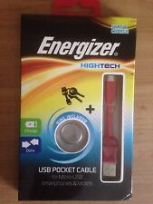 Energizer Hightech USB to Micro USB Pocket Cable - Red