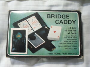 Vintage Bridge Set  in Case with Playing Cards and Score Card