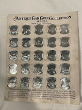 1969 Franklin Mint Sunoco Antique Car Coin Collection Series 2 -Game 25 Coins