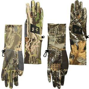 [1318573] Mens Under Armour Scent Control Hunt Liner Gloves