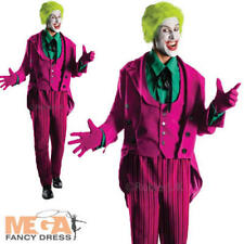 Deluxe Joker Mens Fancy Dress Batman Comic Villian Adults Grand Heritage Costume