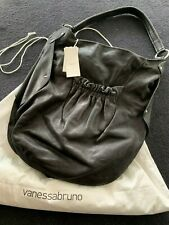 VANESSA BRUNO Paris Was $1029 Large Textured Leather Bag, Hobo, Lined, Dust Bag
