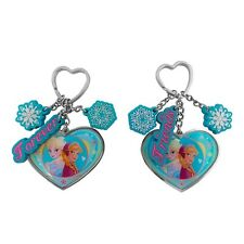 2 Genuine Disney Frozen 'Forever Friends' Elsa and Anna Hearts Keyring Set Gift