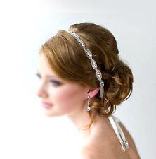 Voll Strass Haarschmuck Kopfband Haarreif Haarband für Braut Sschwarz 1.5cm
