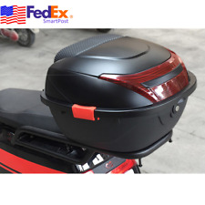 Us Matte Black Scooter Moped Top Box Tail Luggage Storage Case Clip w/ Lock Kits (Fits: Yamaha)