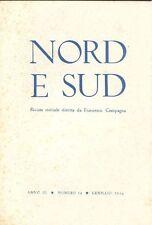 Nord e Sud. Gennaio 1956 - N. 14